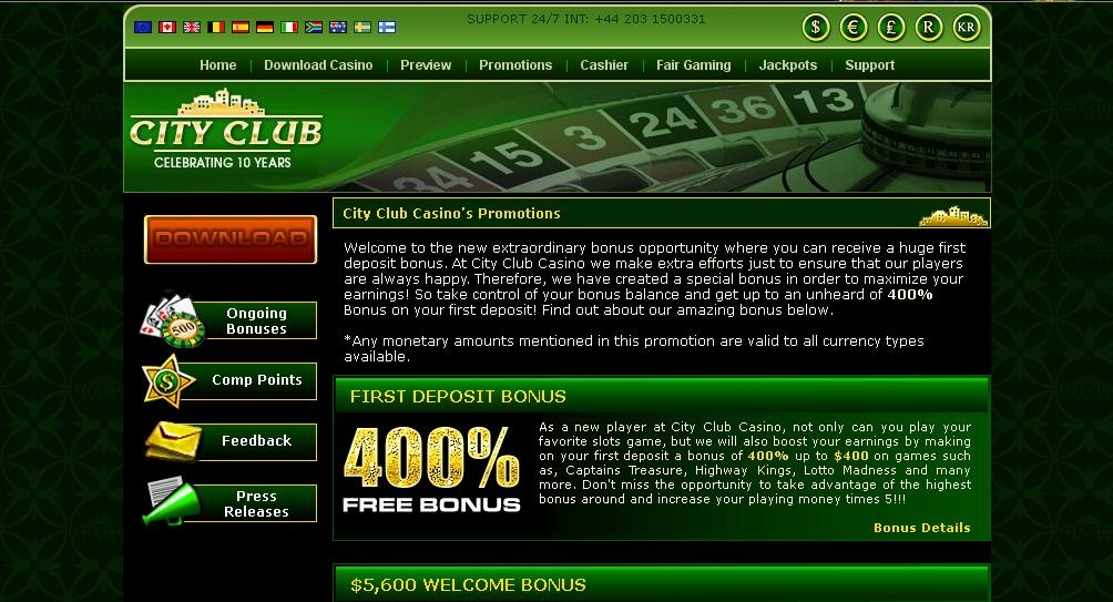 City Club Casino Review